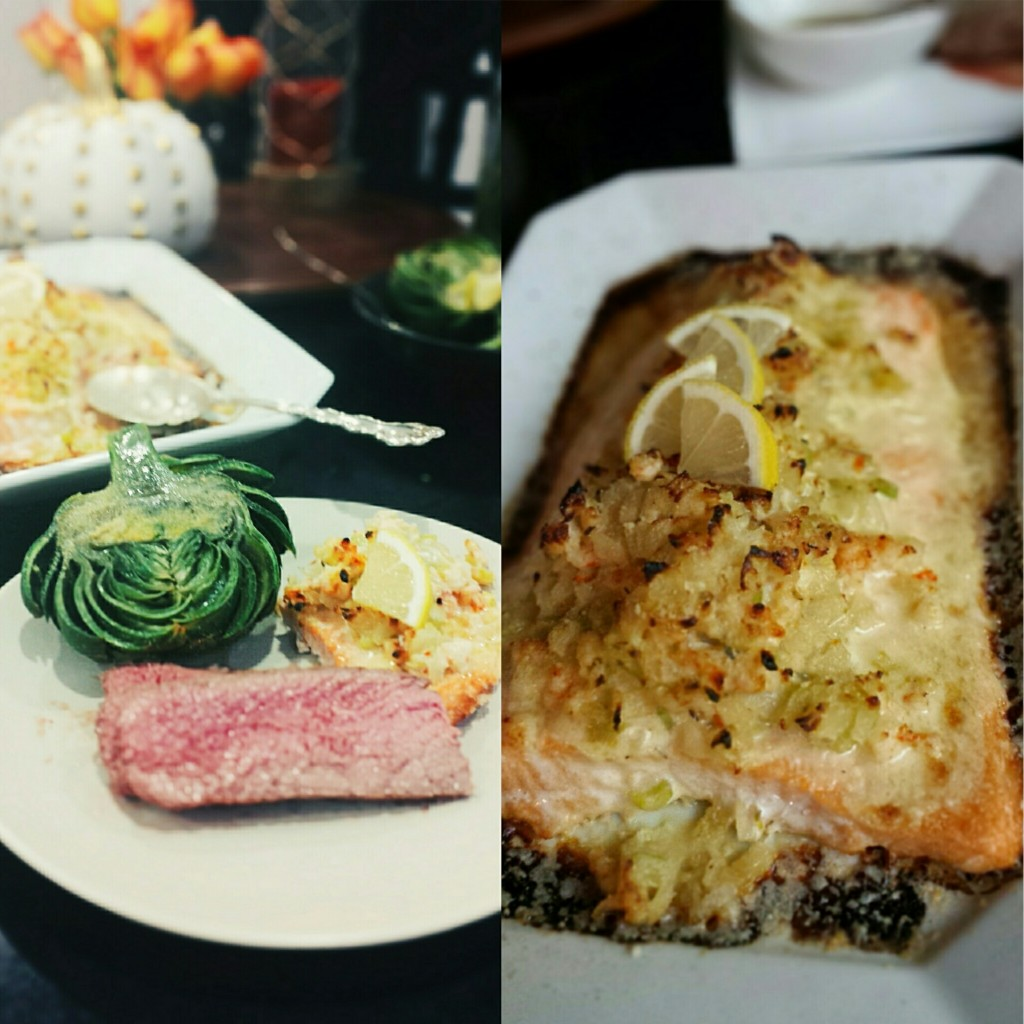 This fanciful seafood stuffed salmon is a seafood lovers dream. The ...